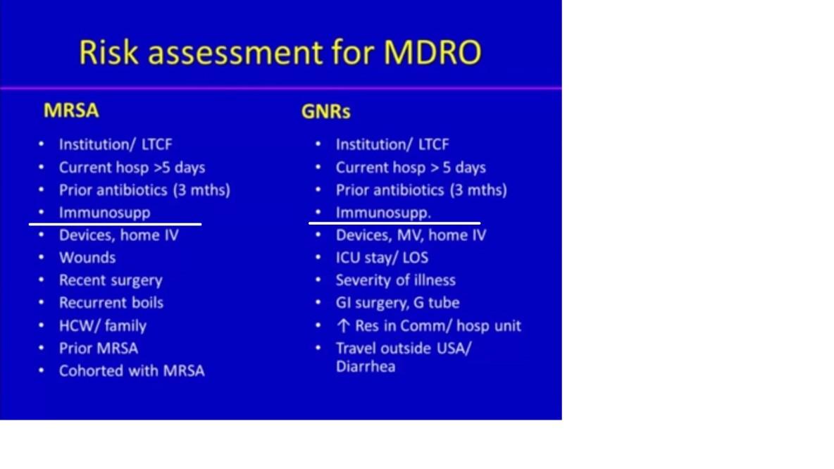 risk assessment for antibiotics Facility risk assessment for the development  conduct a risk assessment for infection  antibiotics will be given within 1 hour.